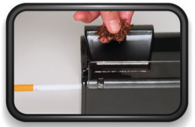 Fill the corners first, deposit tobacco evenly in the Tobacco Chamber. DO NOT OVERFILL!