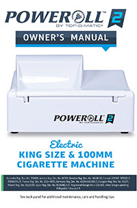 PoweRoll 2 Electric Cigarette Machine Manual