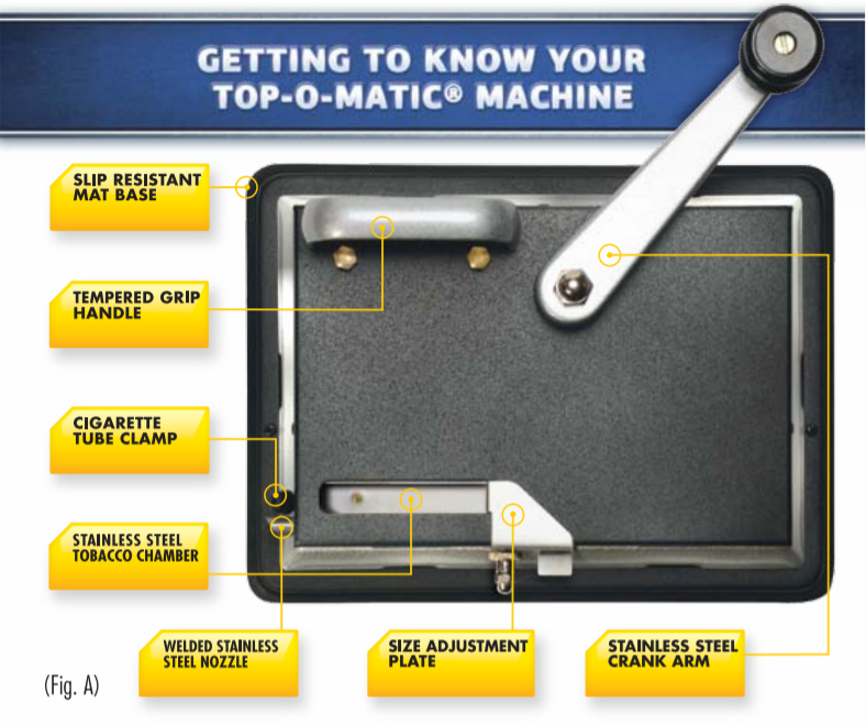 top-o-matic cigarette rolling machine parts